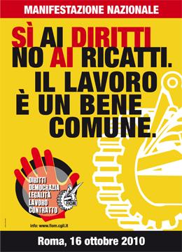 FIOM - Manifestazione nazionale - Roma, 16 ottobre 2010
