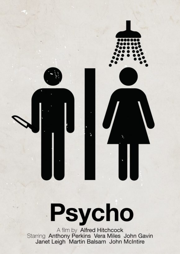 Psycho' pictogram movie poster | by Viktor Hertz