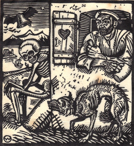 """""""Vom Totentanz Anno"""" di Otto Wirsching (Germania, 1915)"""